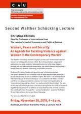 Plakat 2. Walther Schücking Lecture (November 2018) englisch