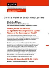 Plakat 2. Walther Schücking Lecture (November 2018)